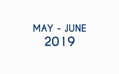 MAY 2019 – JUNE 2019