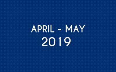 APRIL 2019 – MAY 2019