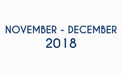 NOVEMBER 2018 – DECEMBER 2018