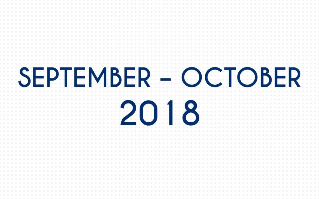 SEPTEMBER 2018 – OCTOBER 2018