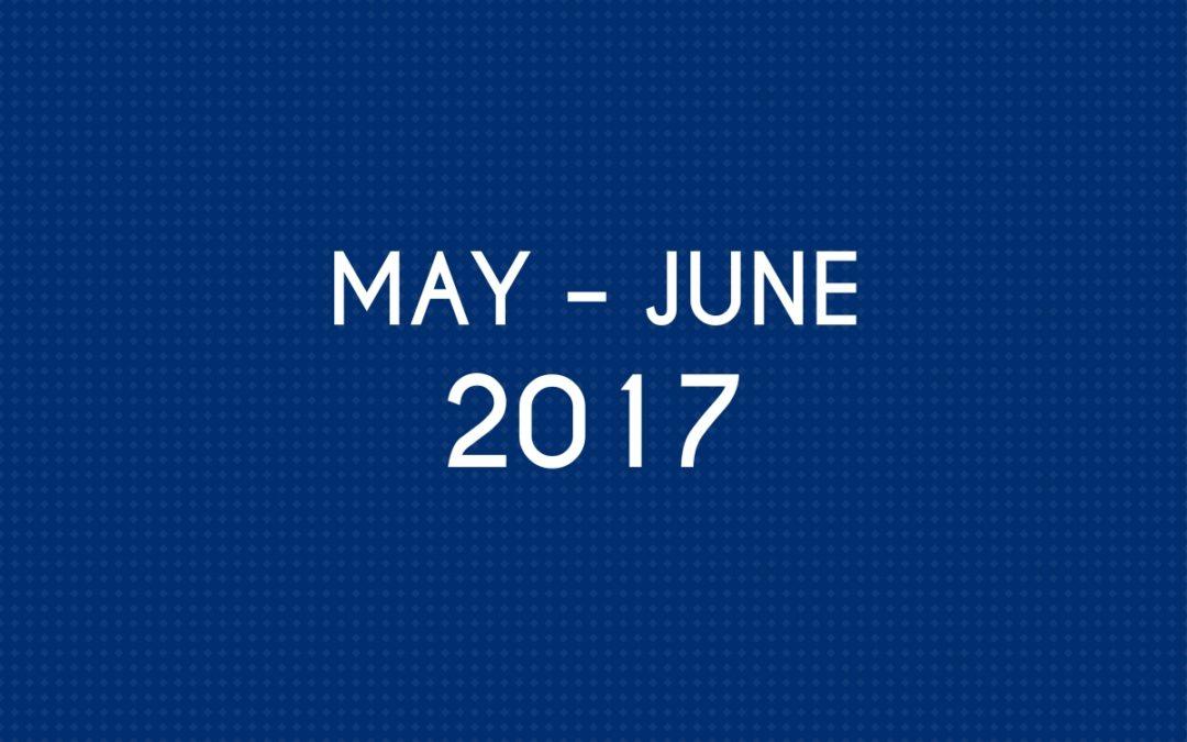 MAY 2017 – JUNE 2017