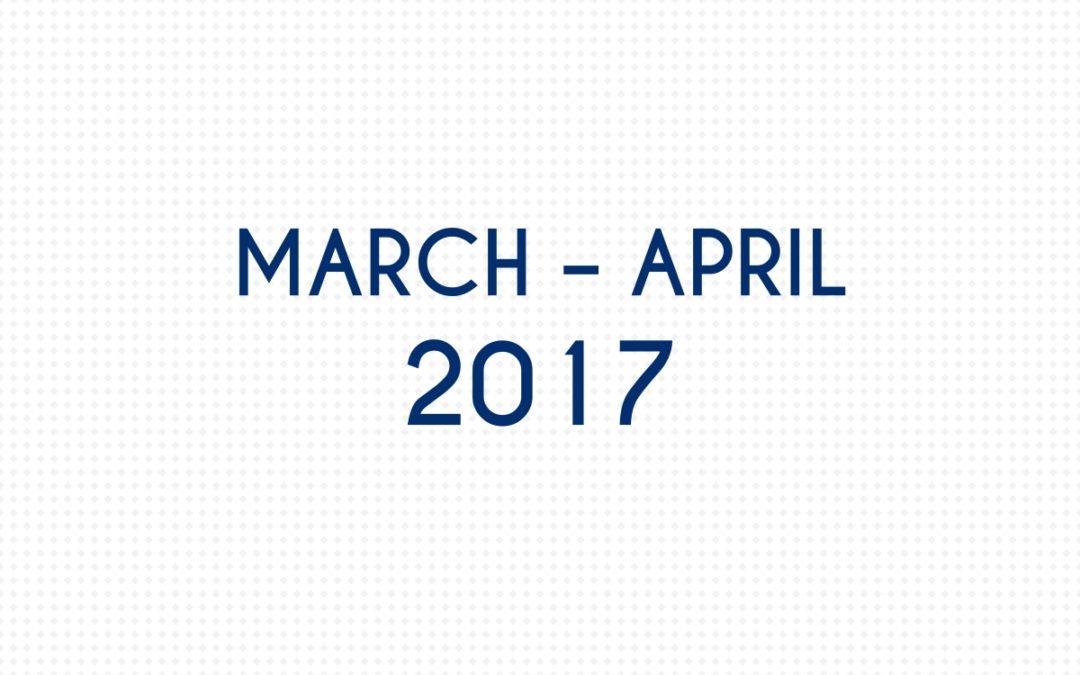 MARCH 2017 – APRIL 2017