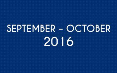 SEPTEMBER 2016 – OCTOBER 2016