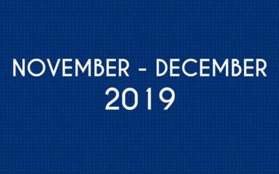 NOVEMBER 2019 – DECEMBER 2019