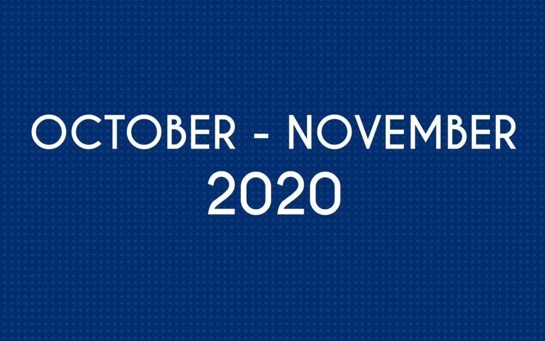 OCTOBER 2020 – NOVEMBER 2020