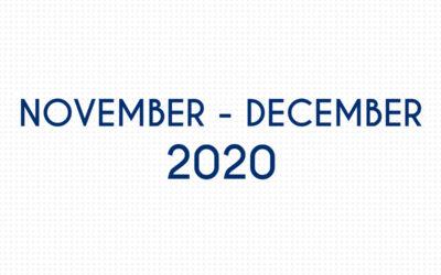 NOVEMBER 2020 – DECEMBER 2020